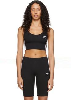 Adidas Black Cropped Tank Top