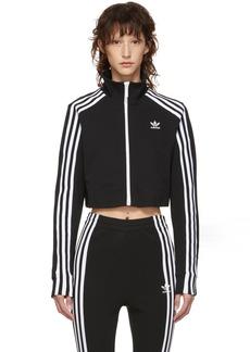 Adidas Black Cropped Track Jacket