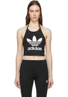 Adidas Black Cropped Trefoil Tank Top