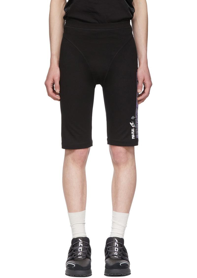 Adidas Black Graphic 80's Shorts