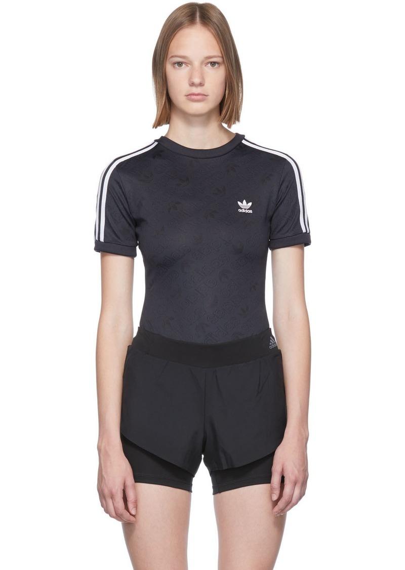 Adidas Black Logo Bodysuit