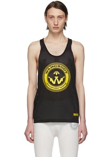 Adidas Black Mesh Graphic Tank Top