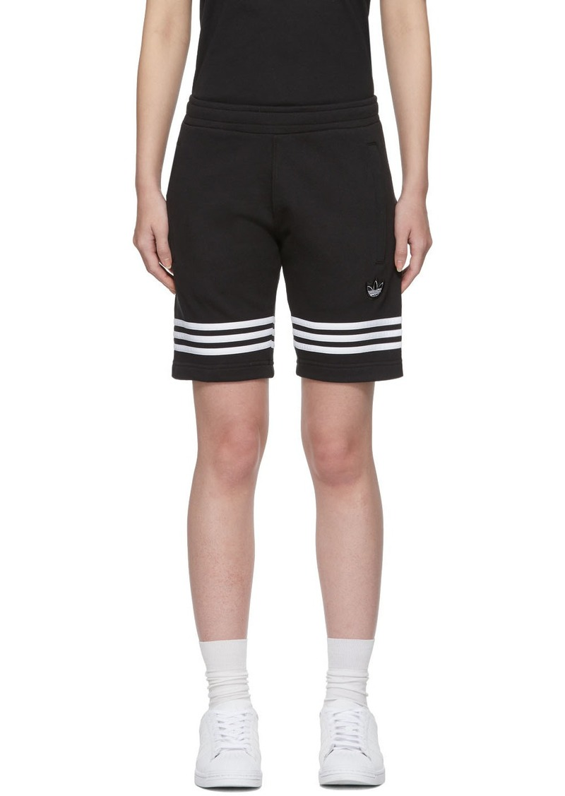 Adidas Black Outline Track Shorts