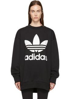 Adidas Black Oversized Logo Sweatshirt Dress