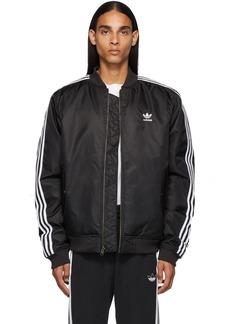 Adidas Black Padded Bomber Jacket