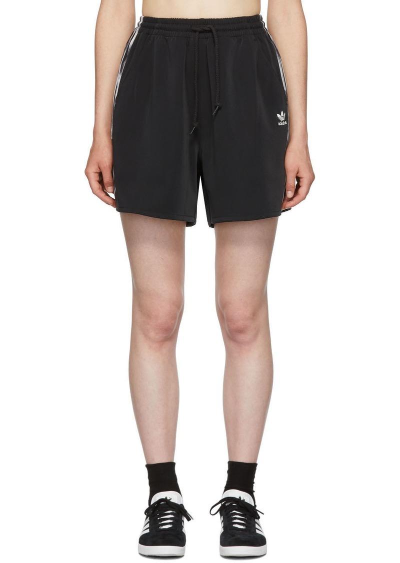 Adidas Black Satin Shorts