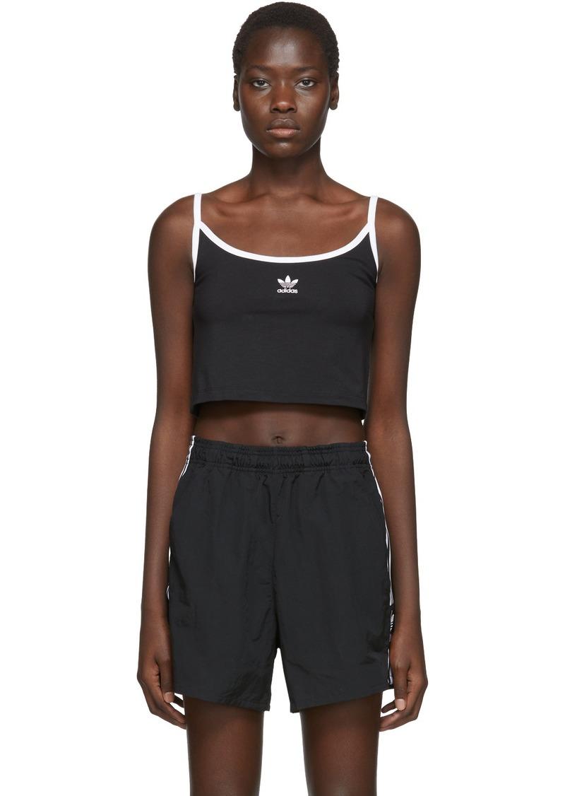 Adidas Black Spaghetti Strap Tank Top