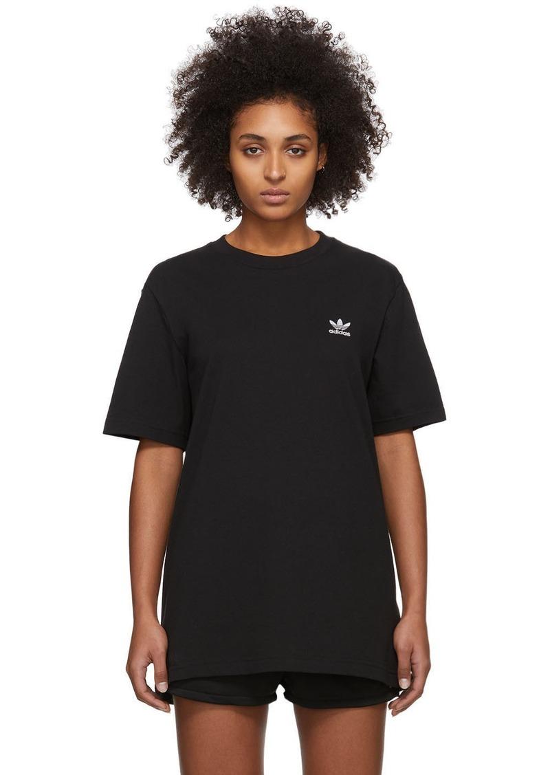 Adidas Black Trefoil Essentials T-Shirt