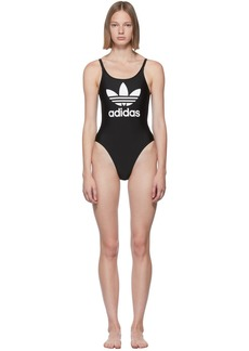 Adidas Black Trefoil Swim Suit