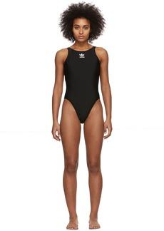 Adidas Black TRF One-Piece Swim Suit