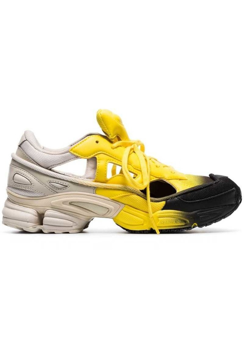 Adidas black, yellow and grey RS replicant ozweego sneakers