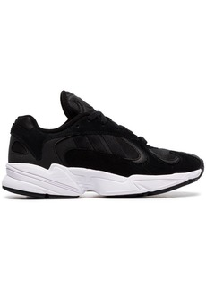 Adidas black Yung 1 Easy Doubles suede and canvas sneakers