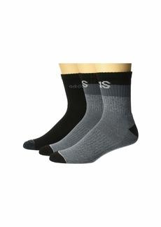 Adidas Blocked Linear High Quarter Socks 3-Pack