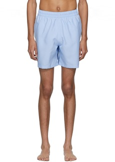 Adidas Blue 3-Stripe Swim Shorts