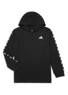 Adidas Boy's Brandmark Hooded Long-Sleeve Tee