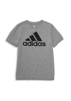 Adidas Boy's Climalite Performance Brand Logo Tee