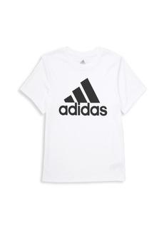 Adidas Boy's Climalite Performance Logo Tee