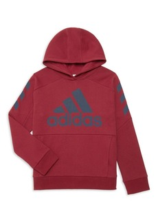 Adidas Boy's Logo Graphic Hoodie