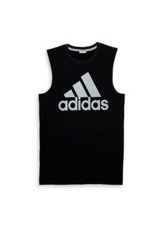 Adidas Boy's Logo Graphic Cotton Jersey Tee