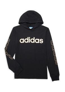 Adidas Boy's Logo Hooded T-Shirt