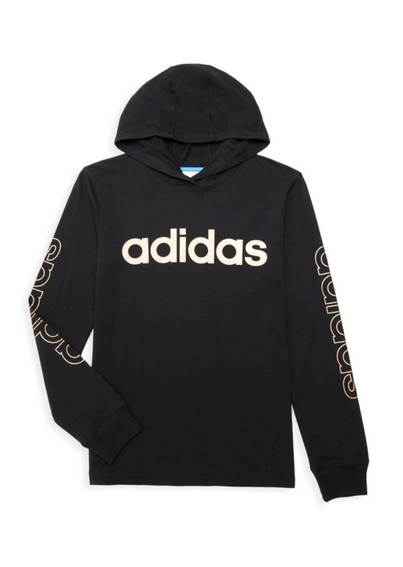 Adidas Boy's Logo Hooded T-Shirt