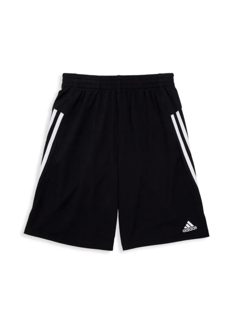 Adidas Boy's Three-Stripe Shorts