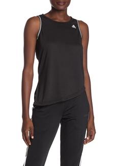 Adidas Brand Logo 3-Stripes Tie Hem Tank