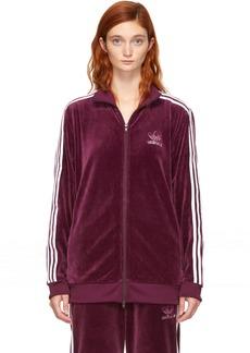 Adidas Burgundy Velour BB Track Jacket
