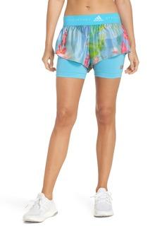 adidas by Stella McCartney 2-in-1 Run Shorts