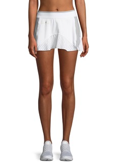 Adidas by Stella McCartney Barricade Laser-Cut High-Performance Skirt w/ Built-in Shorts
