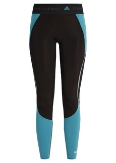 Adidas By Stella McCartney Contrast-panelled performance leggings