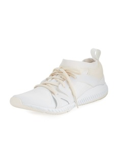 adidas by Stella McCartney CrazyTrain Bounce Mid-Top Fabric Trainer Sneakers  White