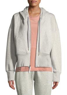 Adidas by Stella McCartney Essentials Zip-Front Cotton Fleece Hoodie