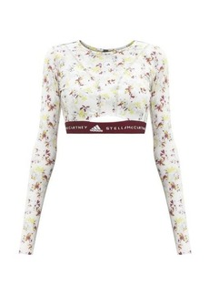 Adidas By Stella McCartney Future Playground recycled-fibre blend cropped top