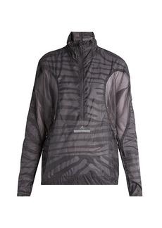 Adidas By Stella McCartney High-neck mesh-panel performance jacket