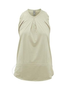 Adidas By Stella McCartney Inverted-pleat technical tank top