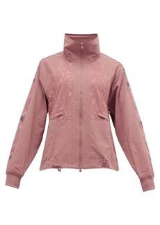 Adidas By Stella McCartney Leopard-jacquard track jacket