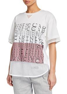 adidas by Stella McCartney Logo Mesh Short-Sleeve Tee