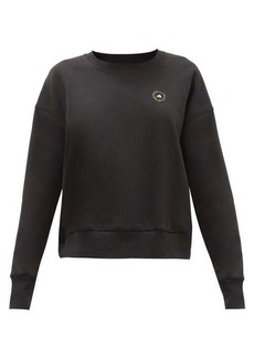 Adidas By Stella McCartney Logo-print organic cotton-blend jersey sweatshirt