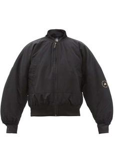 Adidas By Stella McCartney Logo-print recycled-fibre blend bomber jacket