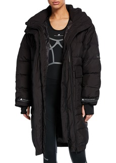 adidas by Stella McCartney Long Padded Active Jacket with Hood