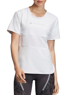 adidas by Stella McCartney Run Mesh-Inset Tee