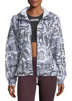 adidas by Stella McCartney Run Zip-Front Printed Performance Jacket