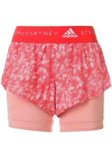 Adidas By Stella Mccartney Running 2-in-1 shorts - Yellow & Orange