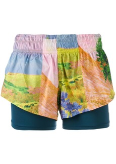 Adidas By Stella Mccartney Running 2in1 shorts - Multicolour