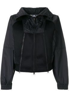 Adidas By Stella Mccartney scuba-panelled shell jacket - Black