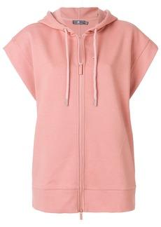 Adidas By Stella Mccartney short-sleeved yoga hoodie - Pink & Purple