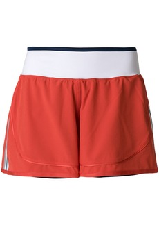 Adidas By Stella Mccartney side stripe performance shorts - Red