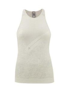 Adidas By Stella McCartney Snake-jacquard technical-knit tank top