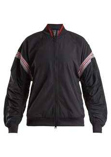 Adidas By Stella McCartney Striped zip-through performance jacket